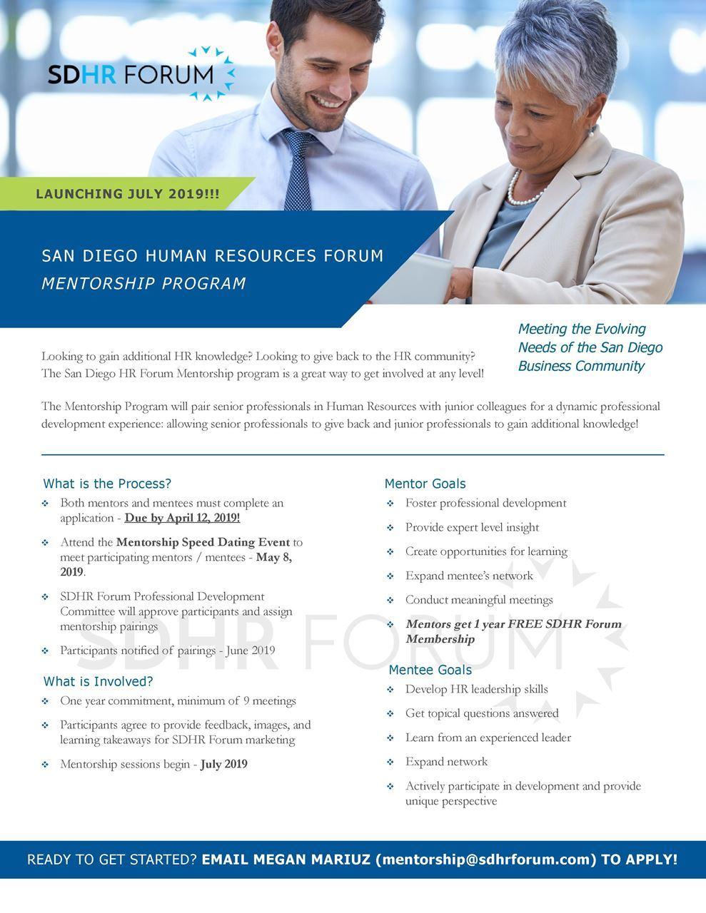 San Diego HR Forum - Mentorship